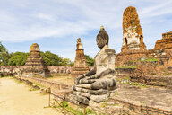 Thailand, Ayutthaya, ruins of Wat Mahathat - WPEF00393