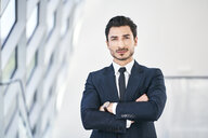 Portrait of confident young businessman - BSZF00503