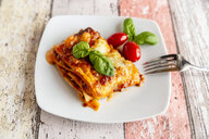 Vegetarian lasagne bolognese with basil and tomato - SARF03763