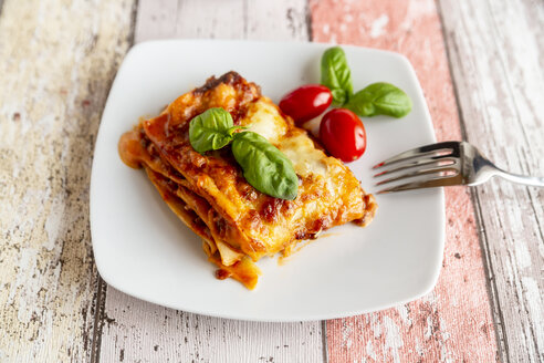 Vegetarian lasagne bolognese with basil and tomato - SARF03763