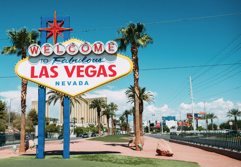 USA, Nevada, Las Vegas, Welcome To Fabulous Las Vegas Nevada Sign - GEMF02059