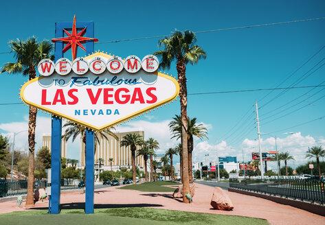 USA, Nevada, Las Vegas, Welcome To Fabulous Las Vegas Nevada Sign - GEMF02059
