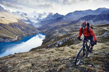 Mountain biker, Valais, Switzerland - CUF23913
