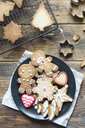 Plate of various Christmas cookies - SKCF00492