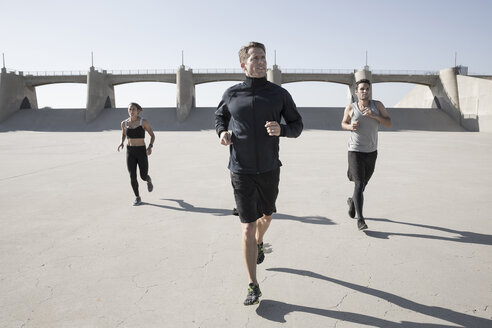Athletes jogging, Van Nuys, California, USA - ISF09397