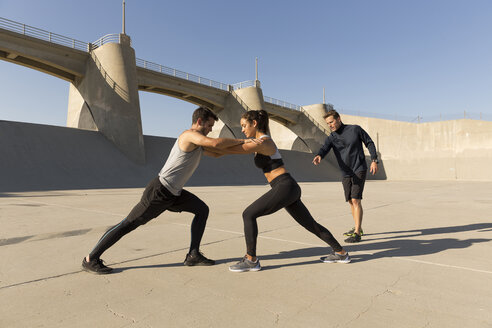 Athletes working out, Van Nuys, California, USA - ISF09403