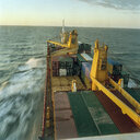 View from the bridge of container ship - CUF25746