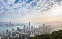 Central Hong Kong skyline and Victoria harbor, Hong Kong, China - CUF28316