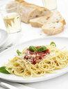 Plate of spaghetti al sugo di pomodoro - CUF28337