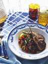 Bowl of Italian stewed vegetable and meat chop with balsamic vinegar - CUF28441