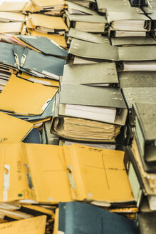 Rows of paper files - CUF28582