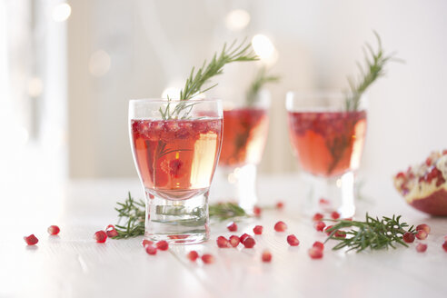 Sparkling rose wine spiced with rosemary and pomegranate - CUF28899