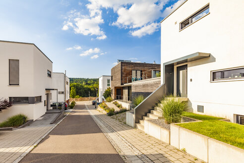 Germany, Esslingen-Zell, development area with passive houses - WDF04680