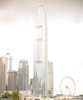 Observation wheel and central skyline, Hong Kong, China - CUF30462