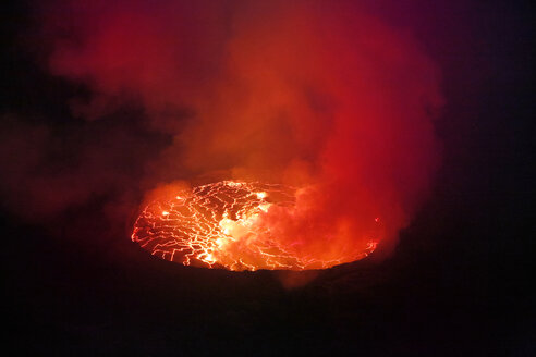 Africa, Democratic Republic of Congo, Virunga National Park, Nyiragongo volcano - REAF00309