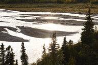USA, Alaska, Denali National Park, river in backlight - CVF00835