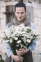 Woman with fresh flowers - ALBF00471