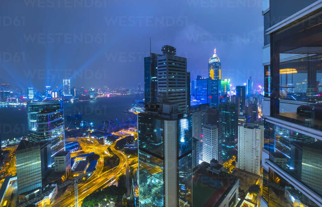 Central Hong Kong financial district and Victoria harbor, Hong Kong, China - ISF10005 - Henglein and Steets/Westend61