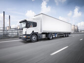 Freight truck on the move on motorway - CUF32834