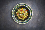 Tabbouleh made of couscous, tomatoes, red onions, cucumber, parsley and mint - LVF07109