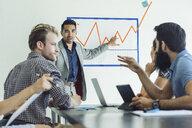 Business people in brainstorming meeting - ISF11048