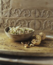 Organic bakery ingredients, bowl of cashew nuts, pistachio nuts and walnuts - ISF11168