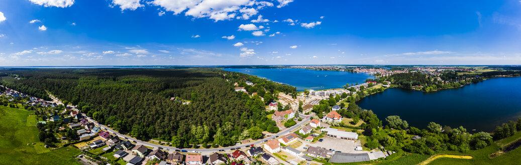 Germany, Mecklenburg-Western Pomerani, Mecklenburg Lake District, Waren an der Mueritz, Aerial view with Mueritz, Koelpinsse and Feisnecksee - AMF05752