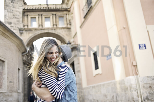Romantic young couple hugging, Valencia, Spain - CUF34009
