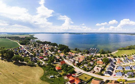 Germany, Mecklenburg-Western Pomerania, Mecklenburg Lake District, Aerial view of Fleesensee and lake Fleesensee - AMF05783