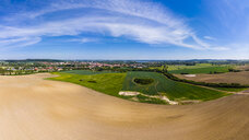 Germany, Mecklenburg-Western Pomerania, Teterow, Aerial view of fields - AMF05785
