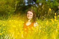 Young woman in summer meadow - SARF03806