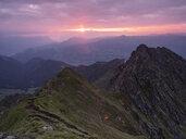 Austria, Tyrol, Inn Valley, Kellerjoch at sunrise - CVF00895