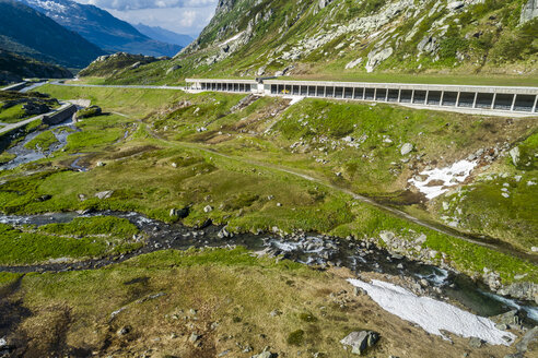 Switzerland, Canton of Uri, Tremola, Gotthard Pass, avalanche protection gallery - STSF01650