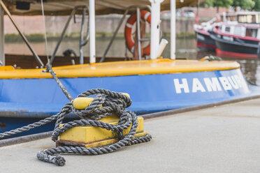Germany, Hamburg, moored barge - KEBF00841