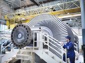 Engineer in steam turbine repair workshop - CUF34966