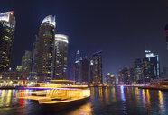 Dubai Marina at night, United Arab Emirates - CUF35575