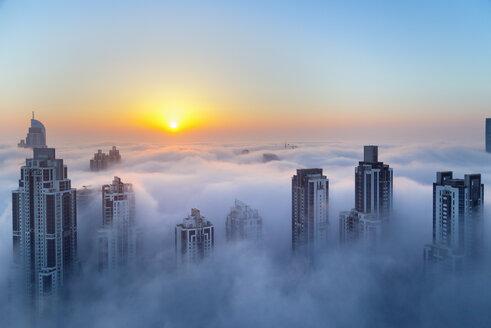 Downtown Dubai at dawn, United Arab Emirates - CUF35635