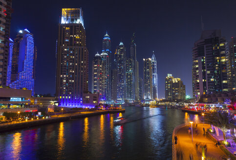 Dubai Marina at night, United Arab Emirates - CUF35638