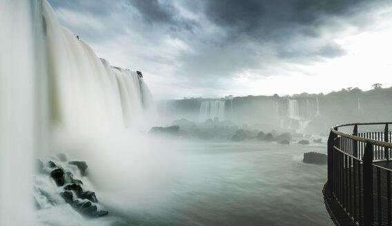 Viewing platform at Iguazu falls, Parana, Brazil - CUF35662