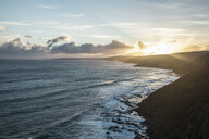 View from the Great Ocean Road at sunset, Victoria, Australia - CUF35674