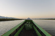 Detail of fishing boat on lake, Nyaung Shwe, Inle Lake, Burma - CUF35811