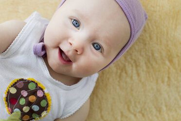 Portrait of baby girl with blue eyes - CUF36761