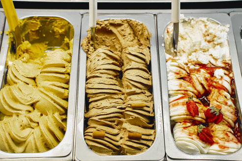 Traditional italian ice cream , gelato with various flavours - BZF00410