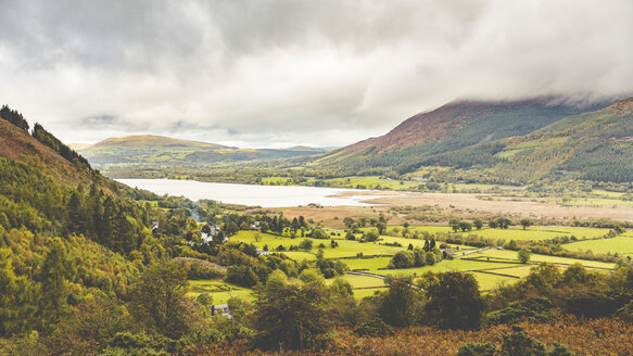 United Kingdom, England, Cumbria, Lake District, view of a valley and a lake near Ambleside - WPEF00545