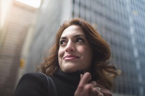 Young woman on street, New York, USA - ISF14889