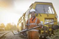 Portrait of maintenance apprentice on railway - CUF37966