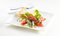 Watermelon asparagus salad with ham - KSWF01915