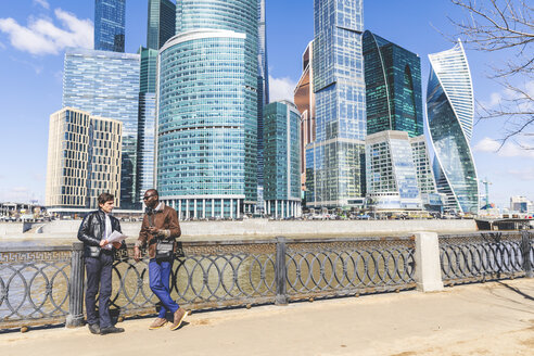 Russia, Moscow, two businessmen in the city - WPEF00598