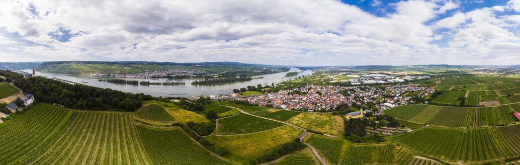 Germany, Rhineland-Palatinate, Bingen region, Rochus Mountain and Rochus Chapel, Aerial view of Kempen am Rhein and Ruedesheim am Rhein - AMF05804