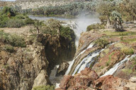 Elevated view of waterfall, Epupa Falls, Namibia - CUF38957